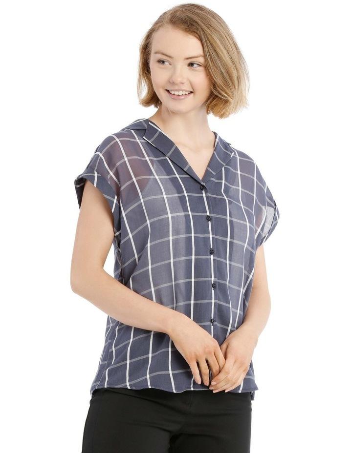 Open Collar Short Sleeve Shirt image 1