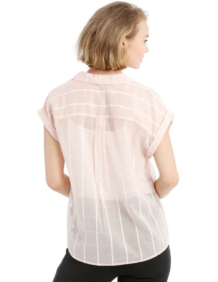 Peach Open Collar Short Sleeve Shirt image 3