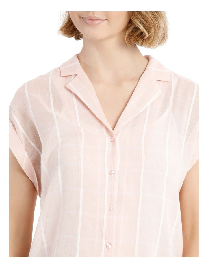 Peach Open Collar Short Sleeve Shirt image 4