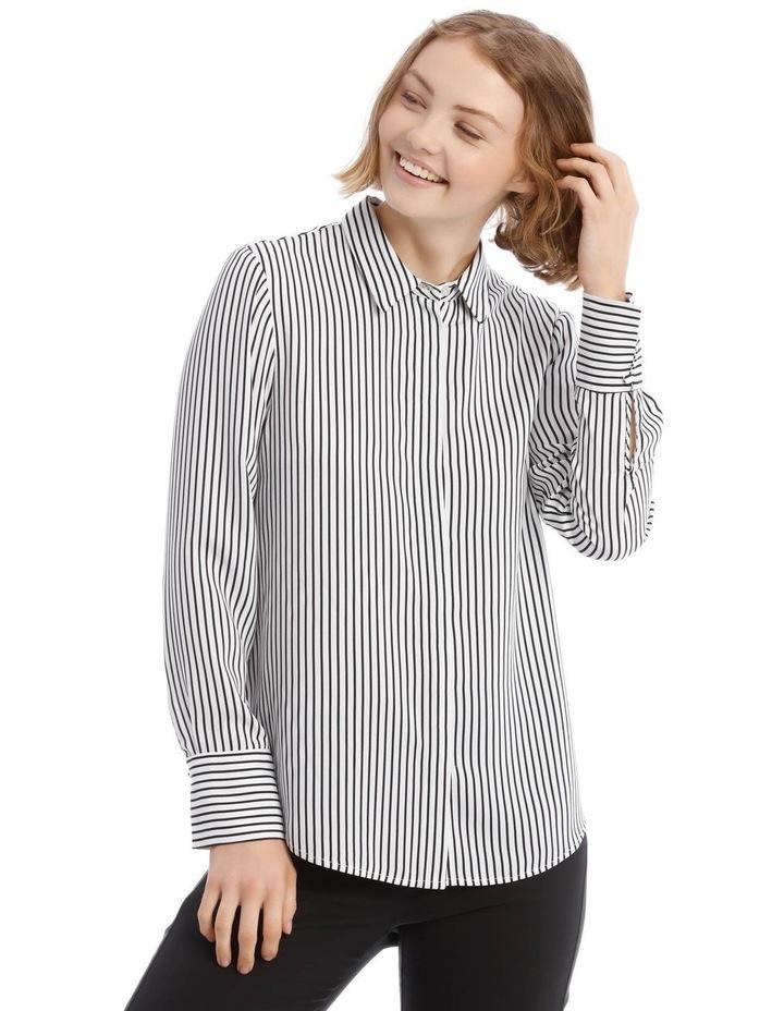 Navy Stripe Work Shirt image 1