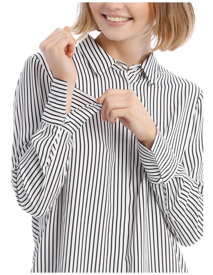 Navy Stripe Work Shirt image 4