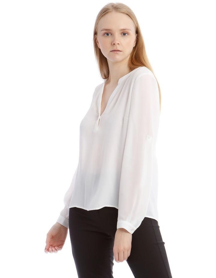White Roll Sleeve Shirt image 1