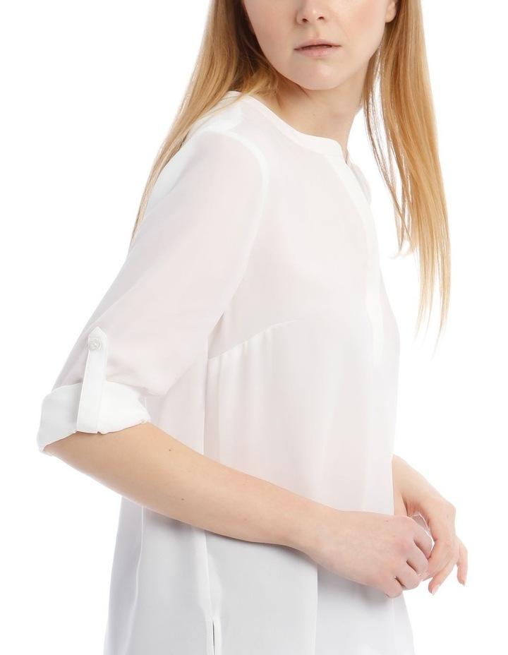 White Roll Sleeve Shirt image 4