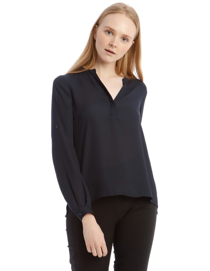Navy Roll Sleeve Shirt image 1