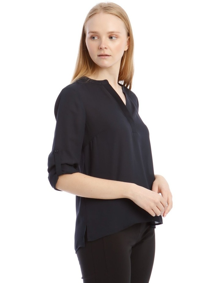 Navy Roll Sleeve Shirt image 2
