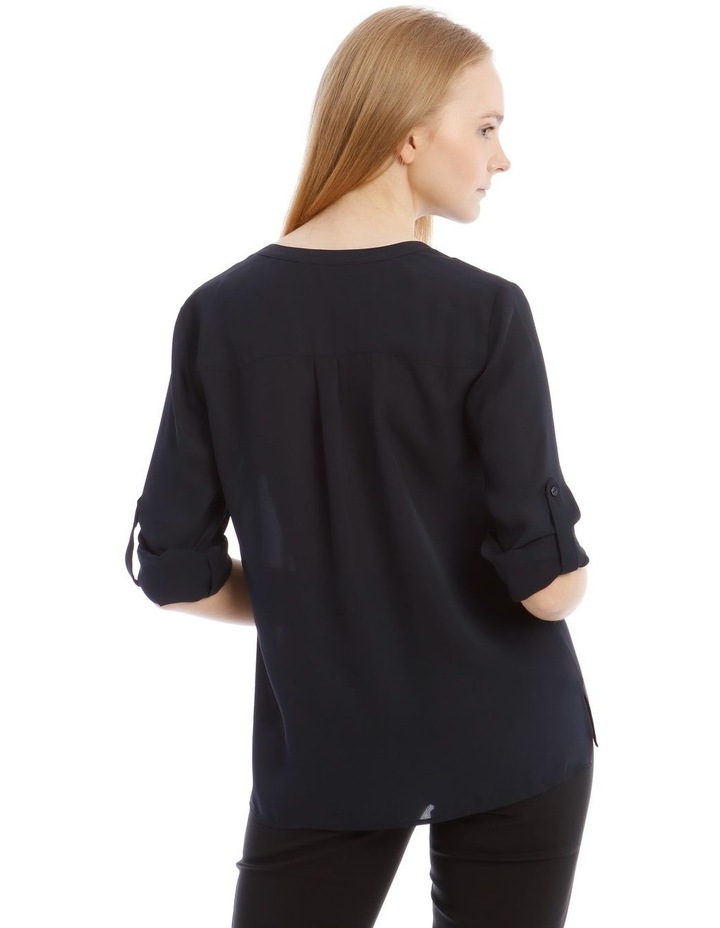 Navy Roll Sleeve Shirt image 3