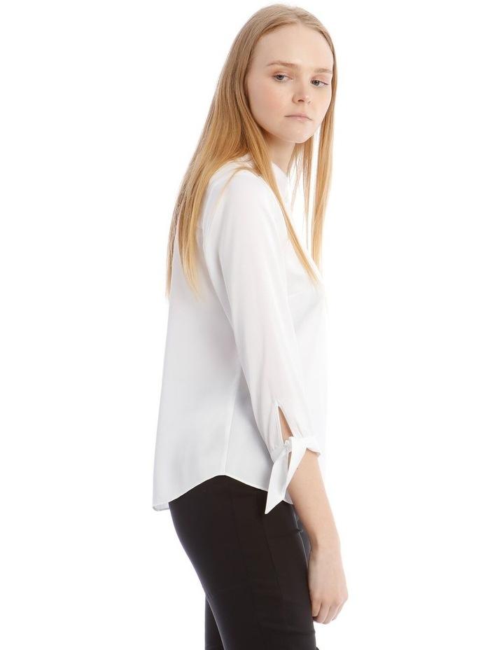 Tie Sleeve Satin Shirt image 2