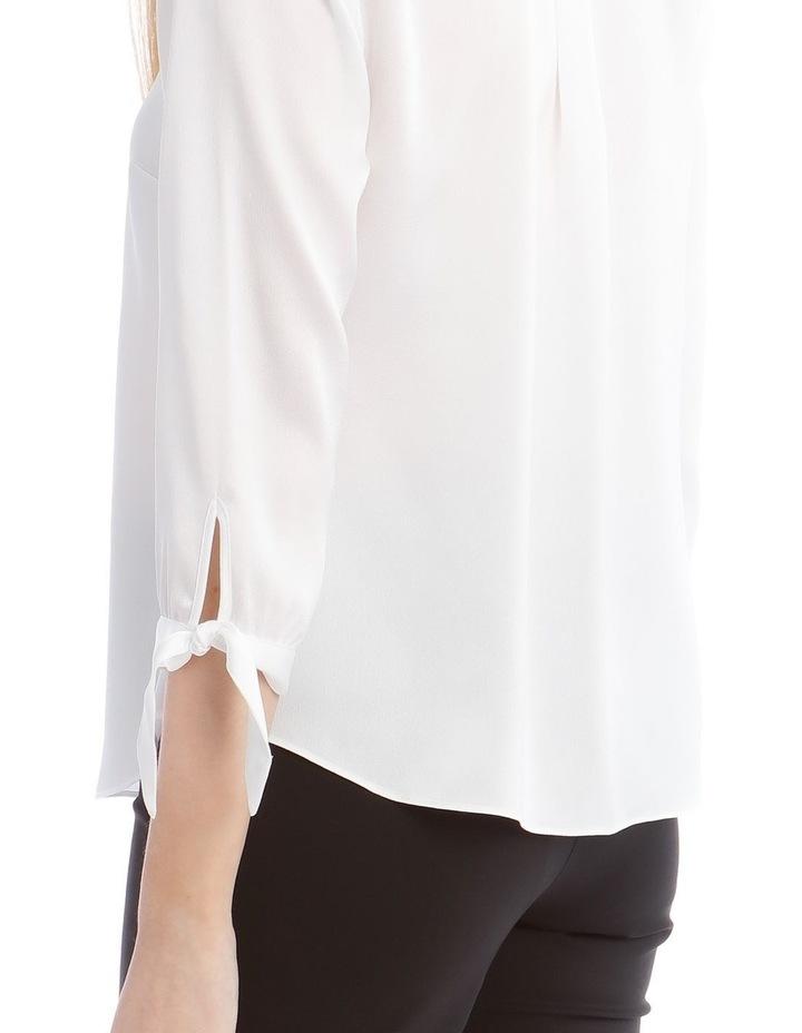 Tie Sleeve Satin Shirt image 4