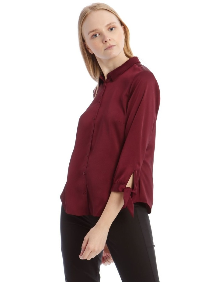 Tie Sleeve Satin Shirt image 1