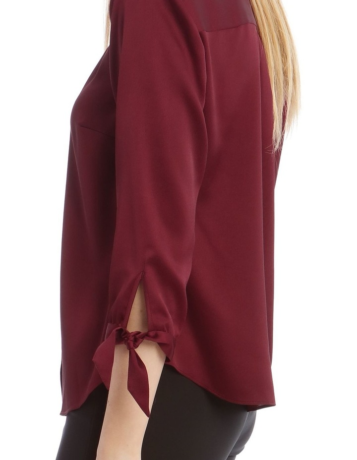 Tie Sleeve Satin Shirt image 4