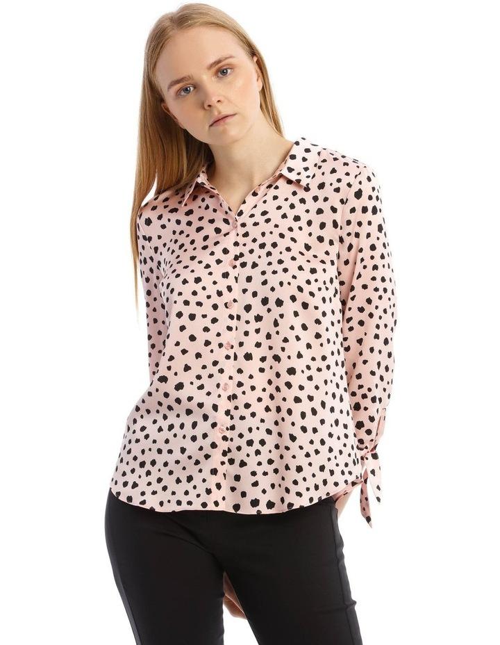 Tie Sleeve Satin Shirt image 1