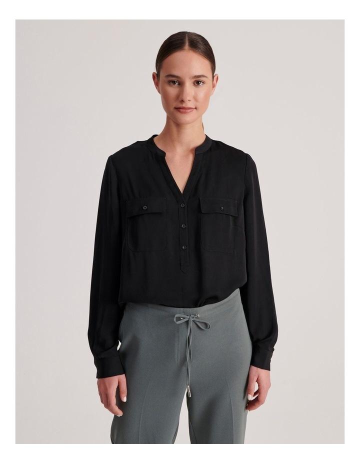 Two Pocket Shirt in Black image 1