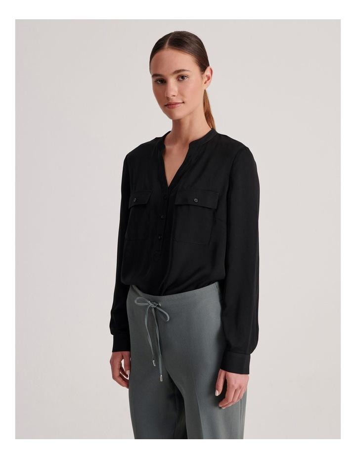 Two Pocket Shirt in Black image 2