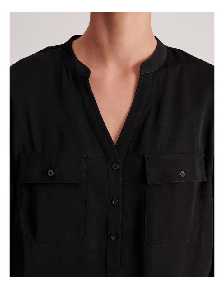 Two Pocket Shirt in Black image 5