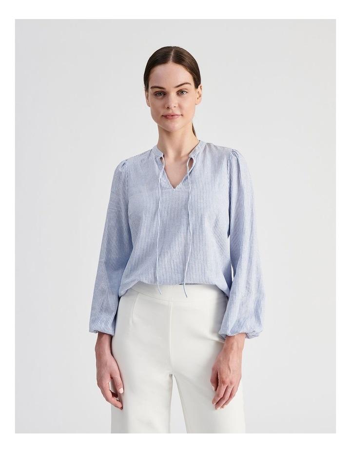 Linen Blend Stripe Shirt image 2