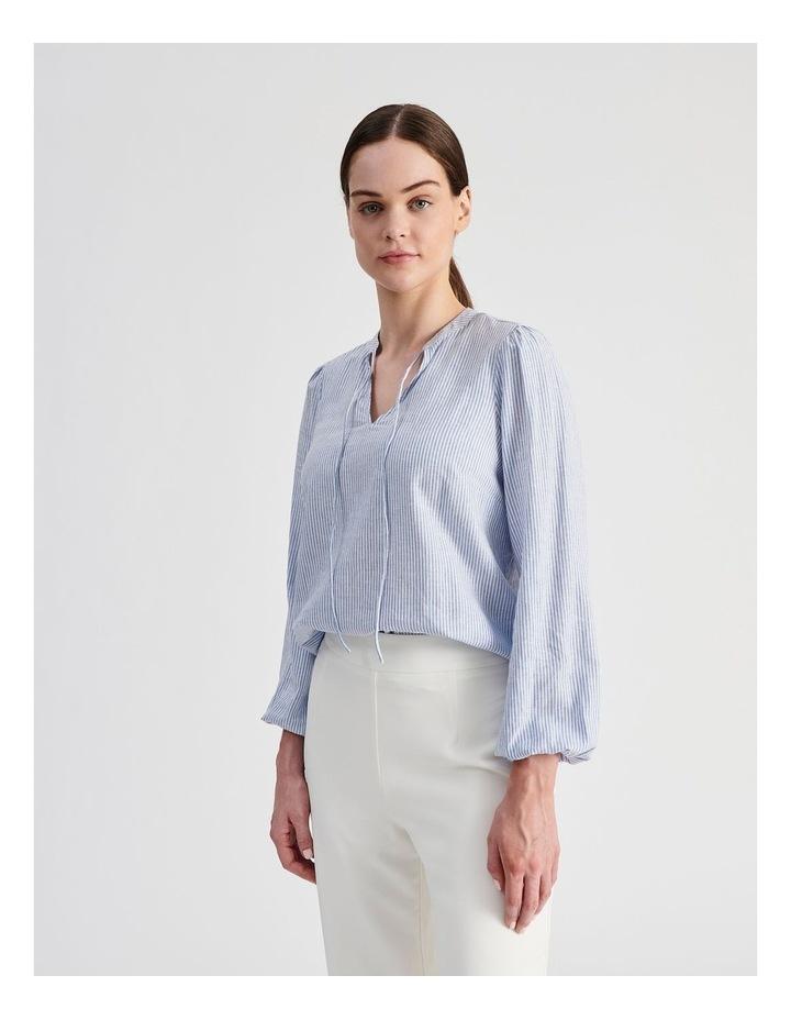 Linen Blend Stripe Shirt image 4