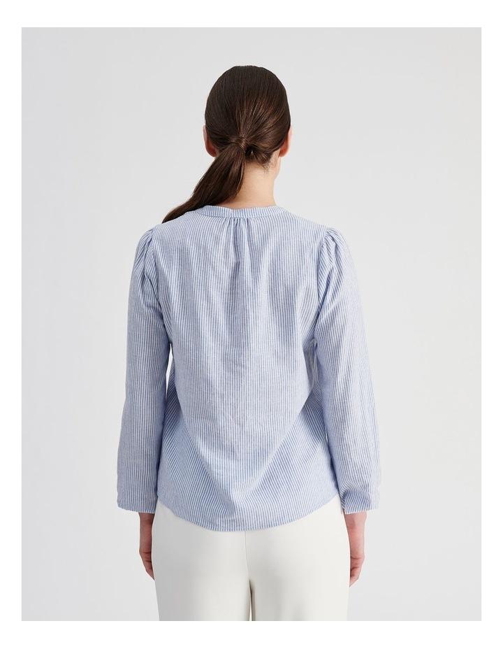 Linen Blend Stripe Shirt image 5