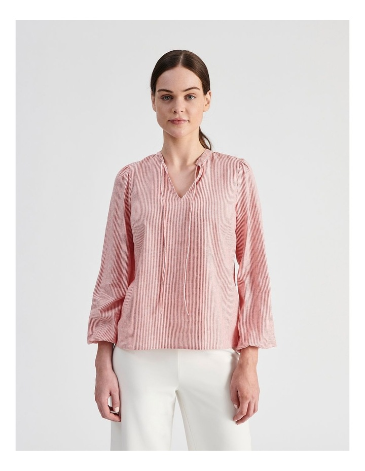 Linen Blend Stripe Shirt image 1