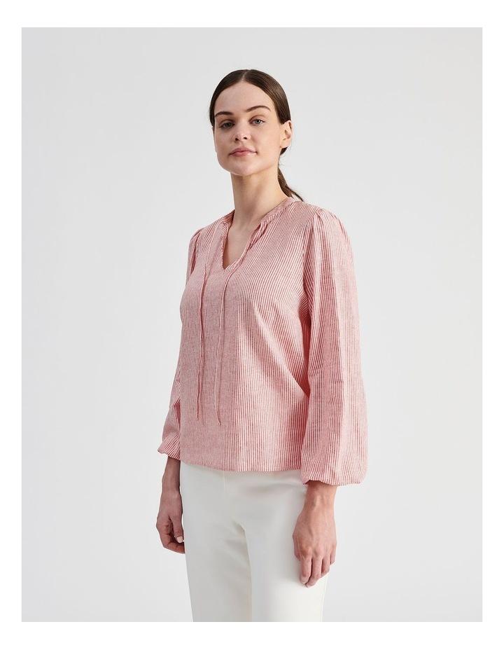Linen Blend Stripe Shirt image 3