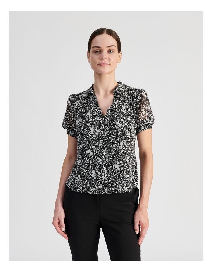 Puff Sleeve Button Through Shirt image 1