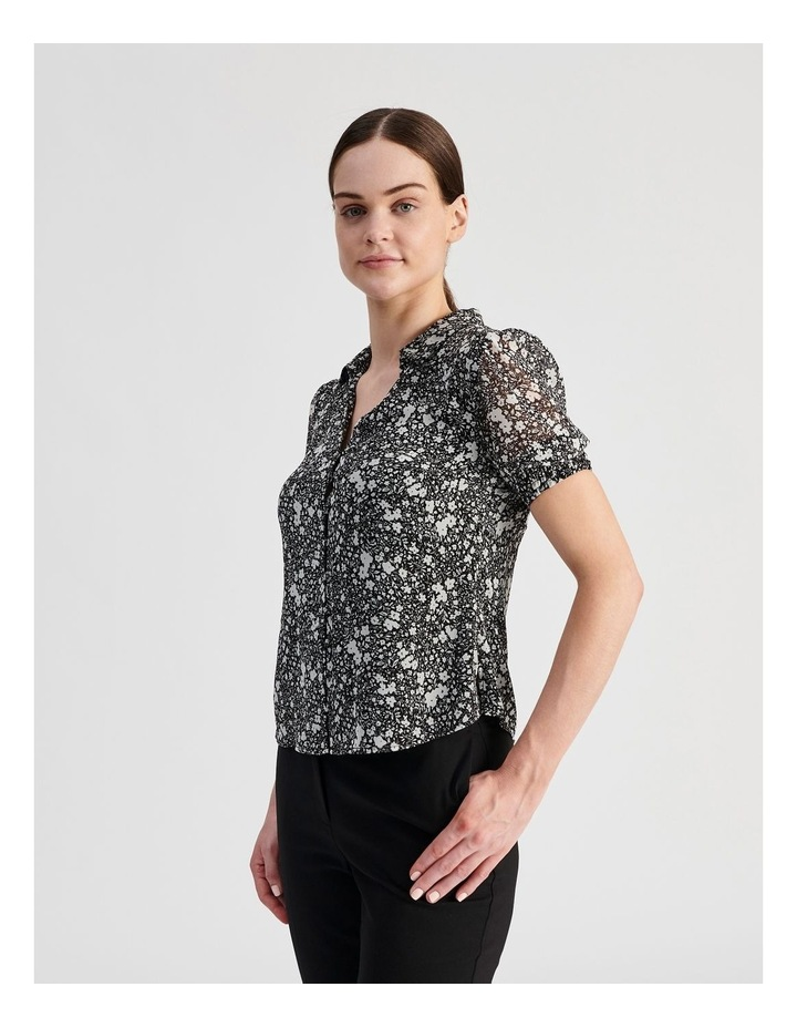 Puff Sleeve Button Through Shirt image 3