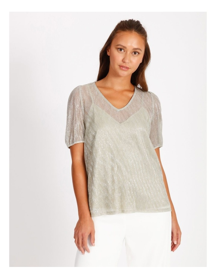 Metallic Plisse Shirt image 1