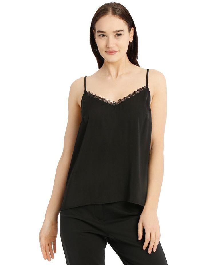 Black Lace Trim Singlet image 1