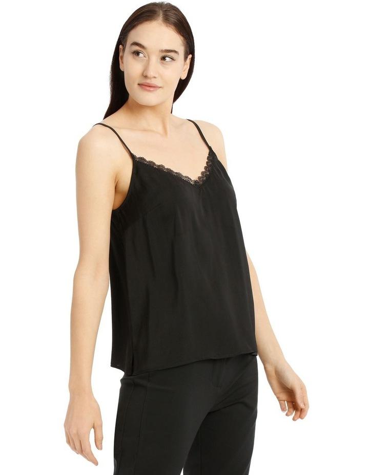 Black Lace Trim Singlet image 2