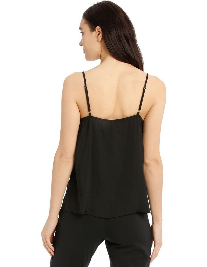Black Lace Trim Singlet image 3