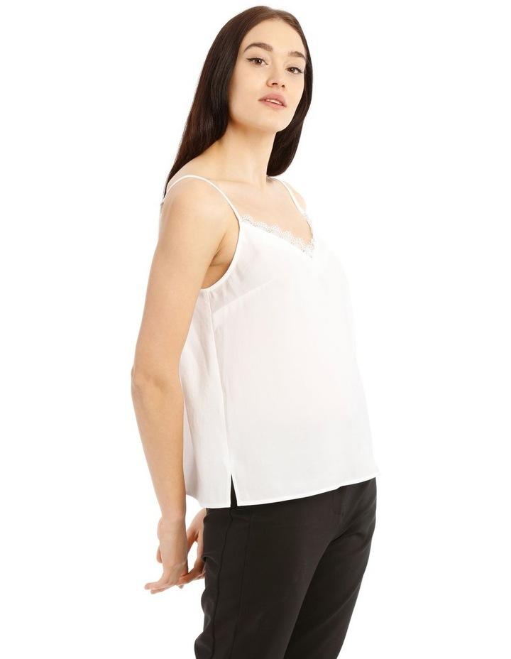 White Lace Trim Singlet image 2