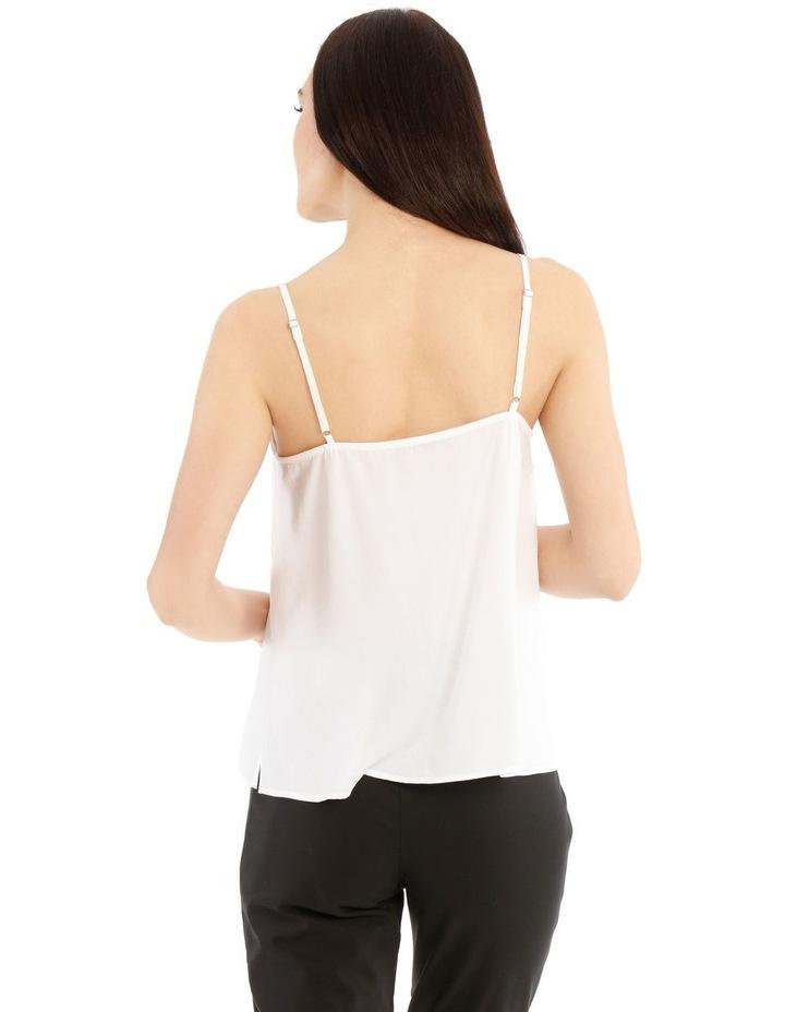 White Lace Trim Singlet image 3