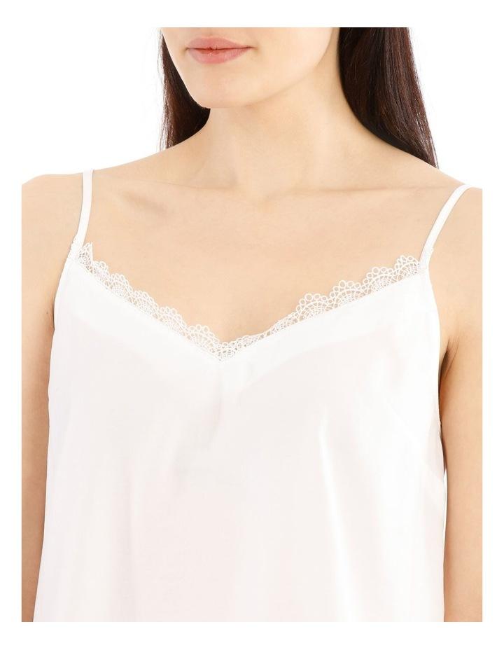 White Lace Trim Singlet image 4
