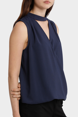 Tokito - Drape Front Cut Out Top