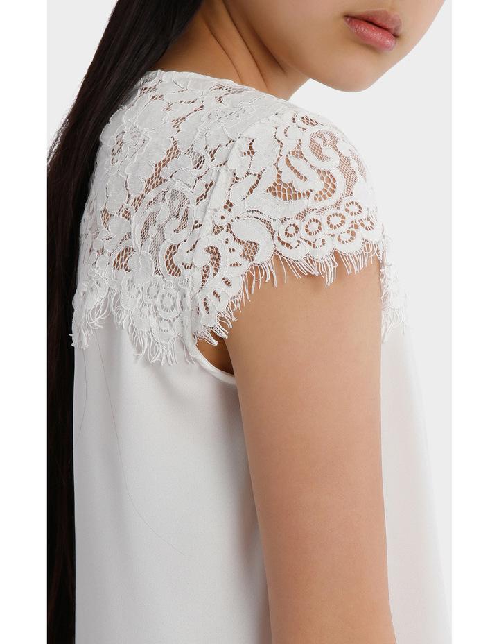 Lace Yoke Short Sleeve Top image 4