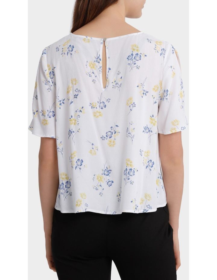 split sleeve print top - poppy print image 3