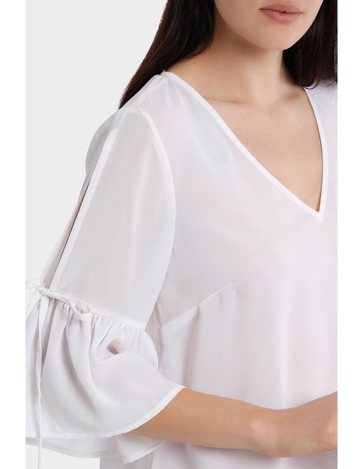 Frill Sleeve Cold Shoulder Top image 4