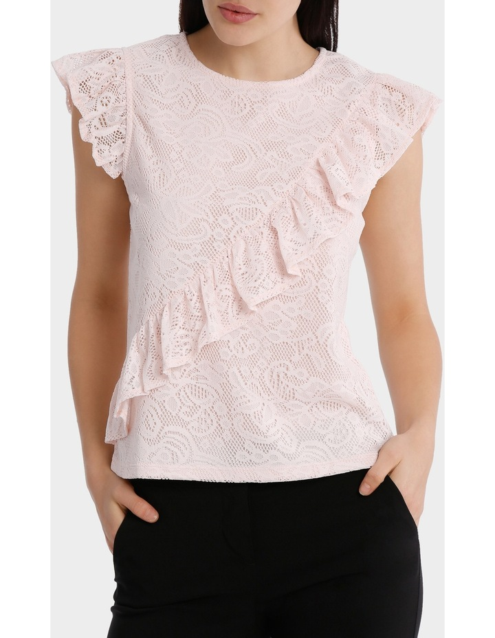frill front lace top image 1