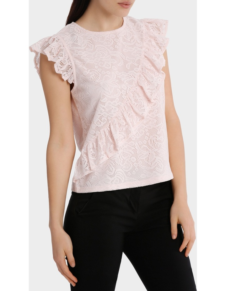 frill front lace top image 2