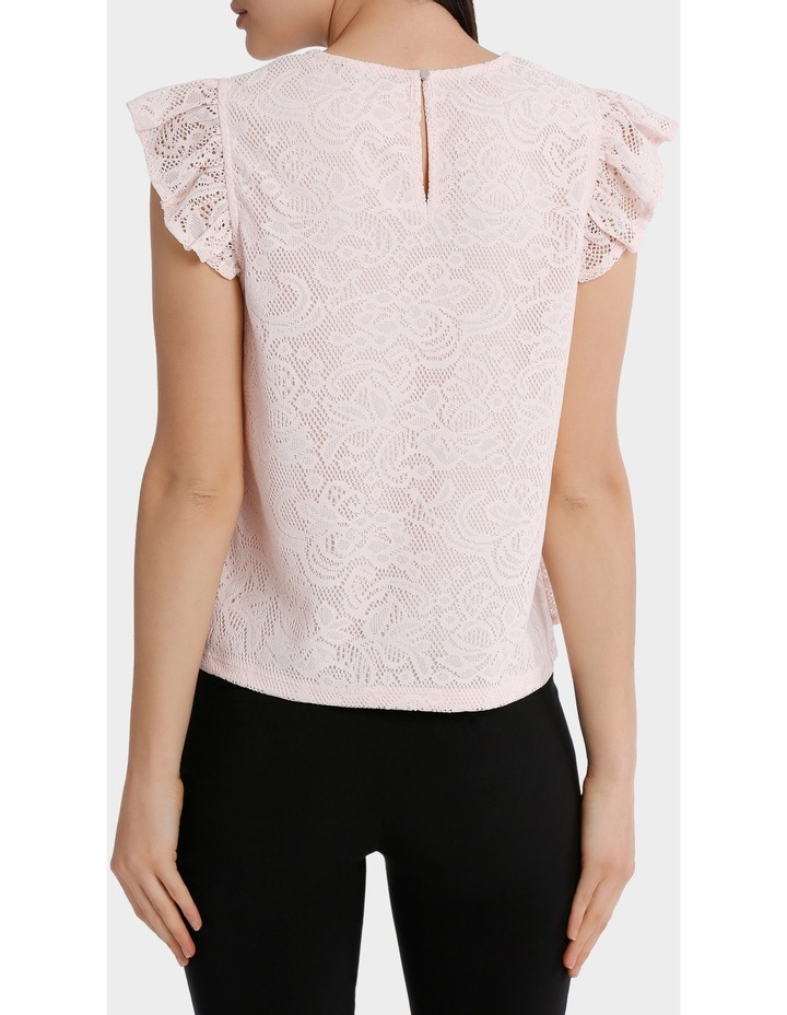 frill front lace top image 3