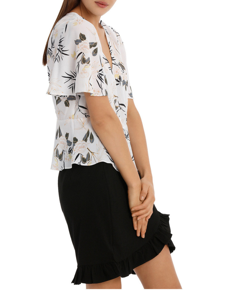 Button Up Flounce Sleeve Top image 2