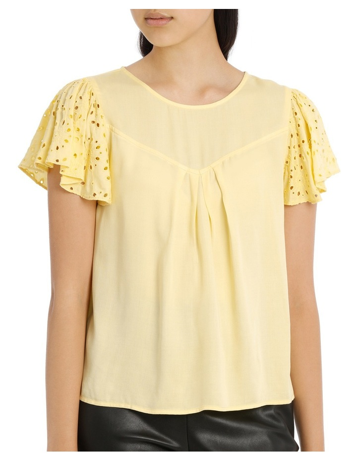 Lace Top - Lemon image 1