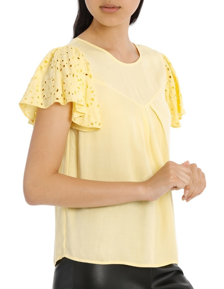 Lace Top - Lemon image 2
