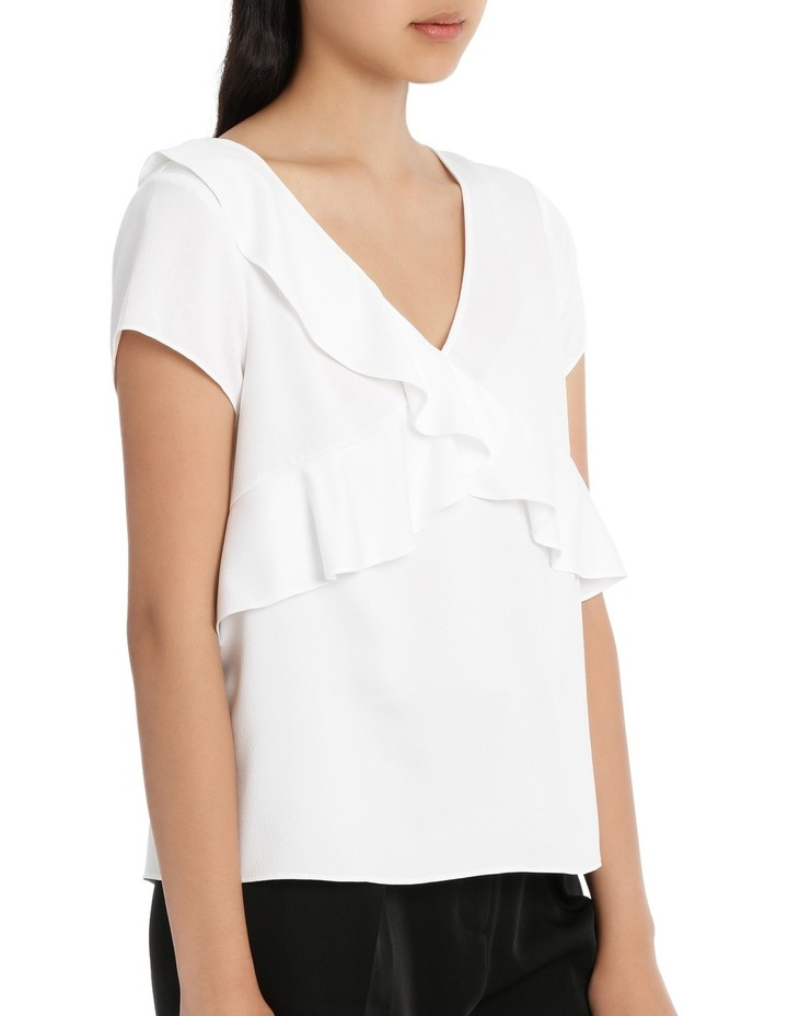Frill Front Open Back Top - White image 2