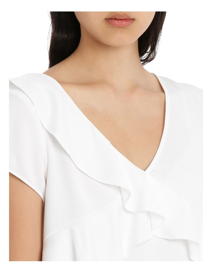 Frill Front Open Back Top - White image 4