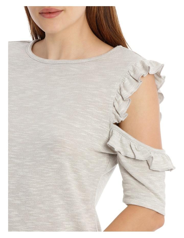 Cold Shoulder Frill Top - Grey Marle image 4