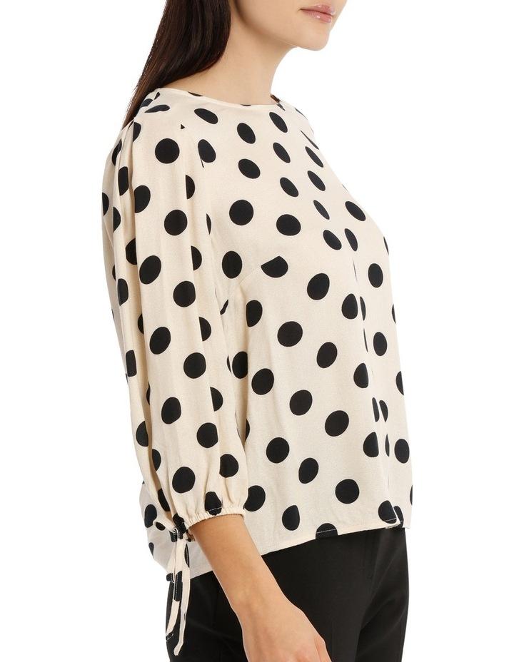 Tie Sleeve Shell Top - Polka Dot image 2