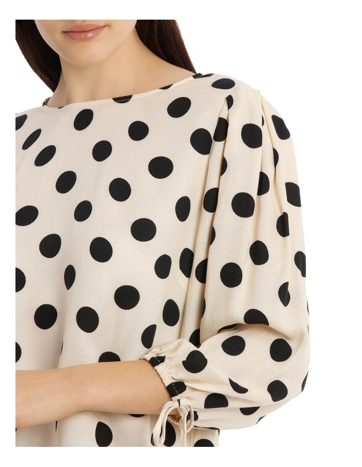 Tie Sleeve Shell Top - Polka Dot image 4