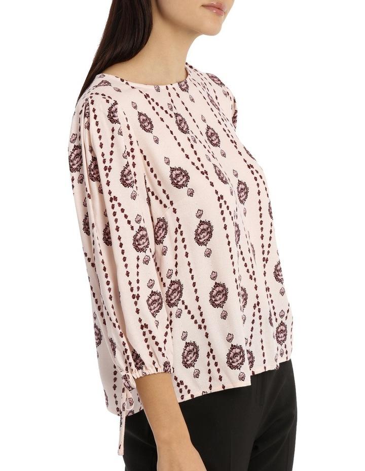 Tie Sleeve Shell Top - Boho Paisley image 2
