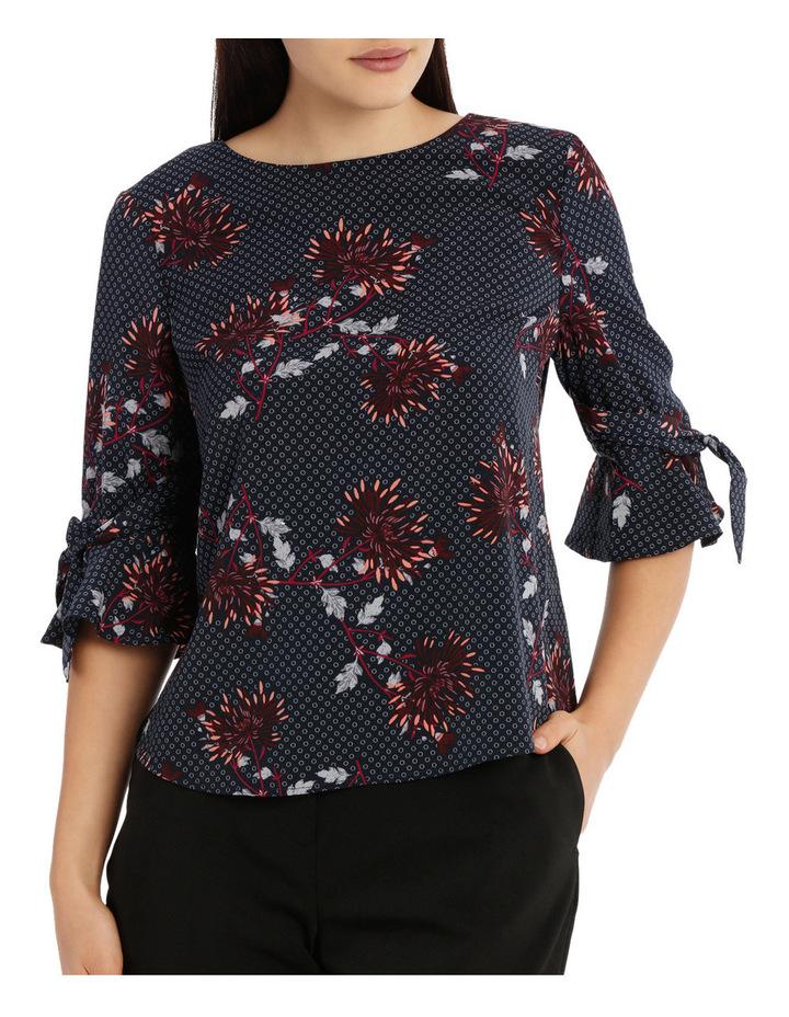 Tie Sleeve Top - Burst Bloom image 1