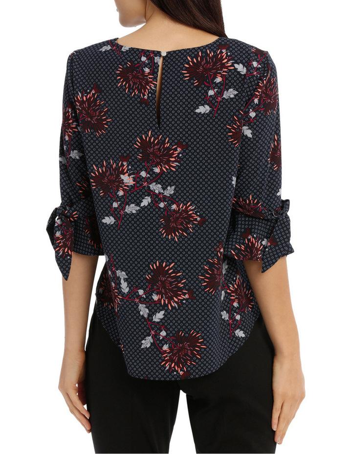 Tie Sleeve Top - Burst Bloom image 3